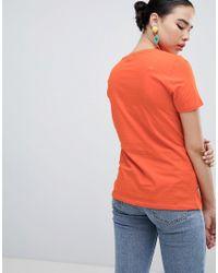 New Look Orange Mon Cheri Slogan Tee