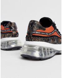 Bubbly - Baskets en daim avec motif imitation peau Bronx en coloris Black