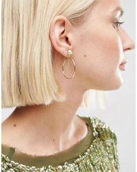 ASOS - Metallic Spike Chain Hoop Earrings - Lyst