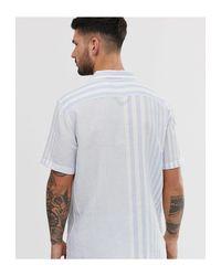 Cubano - Camicia a maniche corte a righe con colletto a rever mayhew skyway di Levi's in White da Uomo