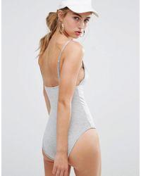 Daisy Street - Gray Jersey Cami Body - Lyst