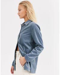 ONLY Blue – Oversize-Hemd aus grobem Cord