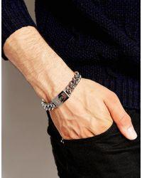 Emporio Armani - Black Eagle Bracelet for Men - Lyst