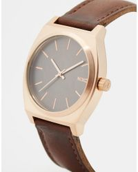 Nixon - Brown Time Teller Watch A045 for Men - Lyst