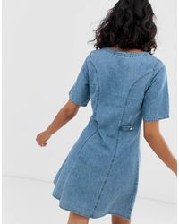 Monki Blue Ridley Supersoft High Waist Ultra Skinny Jeans