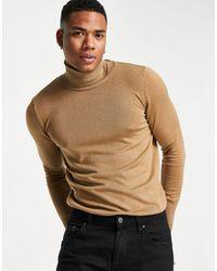 Трикотажный Джемпер С Отворачивающимся Воротником -коричневый Цвет Bolongaro Trevor для него, цвет: Brown