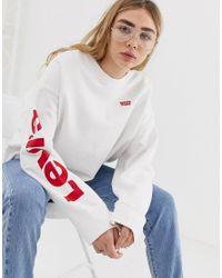 Oversize-свитшот С Логотипом Levi's, цвет: White