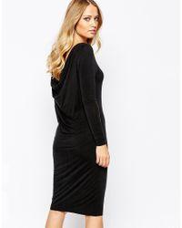 Y.A.S - Black Mariann Long Sleeve Dress - Lyst