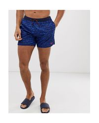 Short Emporio Armani pour homme en coloris Blue