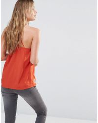 ONLY - Multicolor Boho Embroidered Cami Top With Back Detail - Red - Lyst