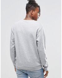 Cheap Monday - Gray Per Crew Sweatshirt Mini Skull Grey Melange for Men - Lyst