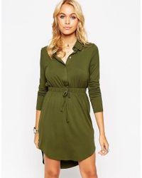 ASOS   Green Shirt Dress   Lyst