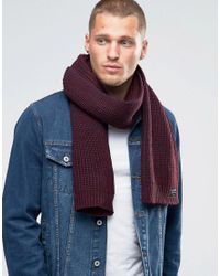 Jack & Jones - Red Scarf for Men - Lyst