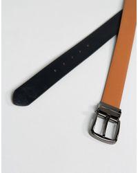 Smith & Canova - Black Reversible Leather Skinny Belt for Men - Lyst