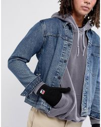 Fila Vintage - Fila Gloves With Small Box Logo In Black for Men - Lyst