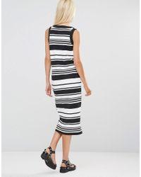 Daisy Street - Black Shift Dress In Stripe - Lyst