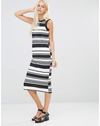 Daisy Street - Black Shift Dress In Stripe - Lyst