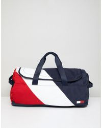 51513e720b Tommy Hilfiger Speed Duffle Bag Icon Colours In Navy/white/red in ...