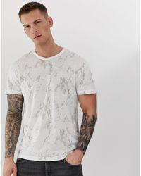 Premium - T-shirt à imprimé effet marbré Jack & Jones pour homme en coloris White