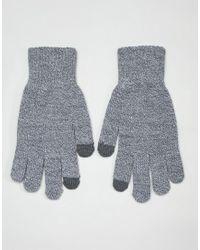 Gants pour cran tactile Jack & Jones pour homme en coloris Gray