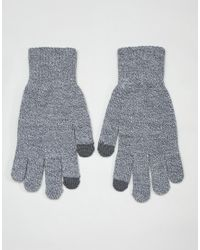 Jack & Jones Gray Touch Screen Gloves for men