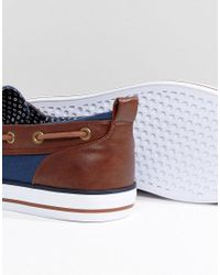 ASOS - Blue Wide Fit Boat Shoes In Navy for Men - Lyst
