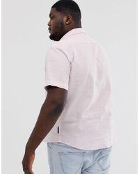 Plus - Chemise en lin à manches courtes French Connection pour homme en coloris Pink