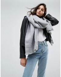 ASOS - Gray Supersoft Long Woven Scarf - Lyst