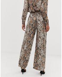 Y.A.S Multicolor – Hose mit weitem Bein und mit Schlangenmuster bedruckt