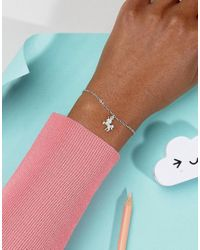 Dogeared - Metallic Sterling Silver Unicorn Reminder On Friendship Bracelet Card - Lyst