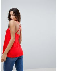 ASOS - Red Cami With Cross Straps In Swing Fit - Lyst