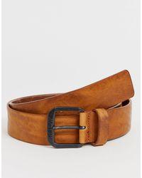 Replay – Vintage-Ledergürtel in Brown für Herren