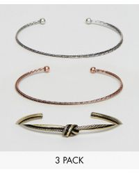 ASOS | Multicolor Bangle Pack In Mixed Finish | Lyst