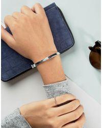 Pilgrim - Metallic Silver Plated Simple Cuff Bracelet - Lyst