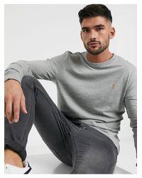 Camiseta Farah de hombre de color Gray