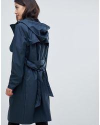 Y.A.S - Green Hooded Rain Trench Coat - Lyst