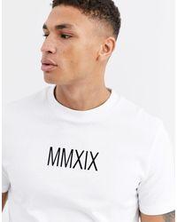 Camiseta gruesa con estampado ASOS de hombre de color White