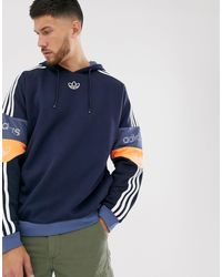 Темно-синее Худи С Логотипом -темно-синий Adidas Originals для него, цвет: Blue