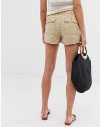 Pantalones cortos safari en beis Mango de color Brown