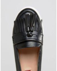 London Rebel Black Loafer Trainer