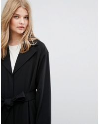Weekday Black Oversize Belted Trench Coat