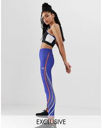 ConTour - Legging avec rayure - - Exclusivité ASOS PUMA en coloris Blue