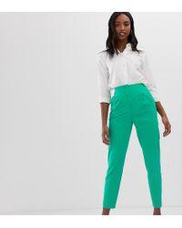 Mix & Match - Pantalon cigarette taille haute ASOS en coloris Green
