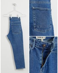 Jean slim - délavé New Look pour homme en coloris Blue