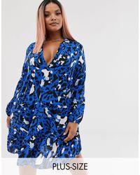 Boohoo Blue Smock Dress