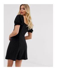 Vestito country con bottoni di New Look in Black