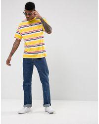 ASOS Oversized Stripe T-shirt In Yellow for men