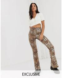 Inspired - Pantalon évasé à imprimé animal Reclaimed (vintage) en coloris Multicolor