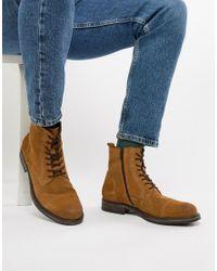 Светло-коричневые Замшевые Ботинки На Шнуровке Jack & Jones для него, цвет: Multicolor