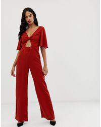 Комбинезон С Перекрученной Отделкой -красный Fashion Union, цвет: Red